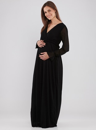Black - Maternity Dress - LYNMAMA