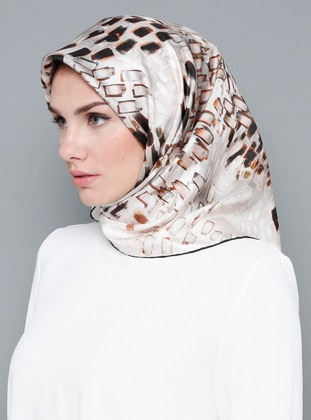 Multi - Printed - %100 Silk - Scarf - Cacharel