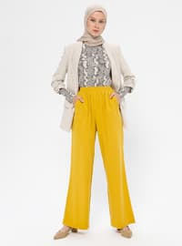 Yellow - Viscose - Pants