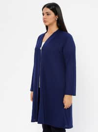 Saxe - V neck Collar - Unlined - Plus Size Jacket