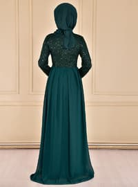Emerald - Crew neck - Fully Lined - Dress
