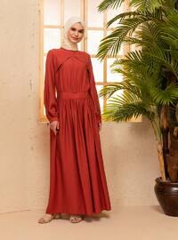 Terra Cotta - Polo neck - Unlined - Nylon - Viscose - Dress