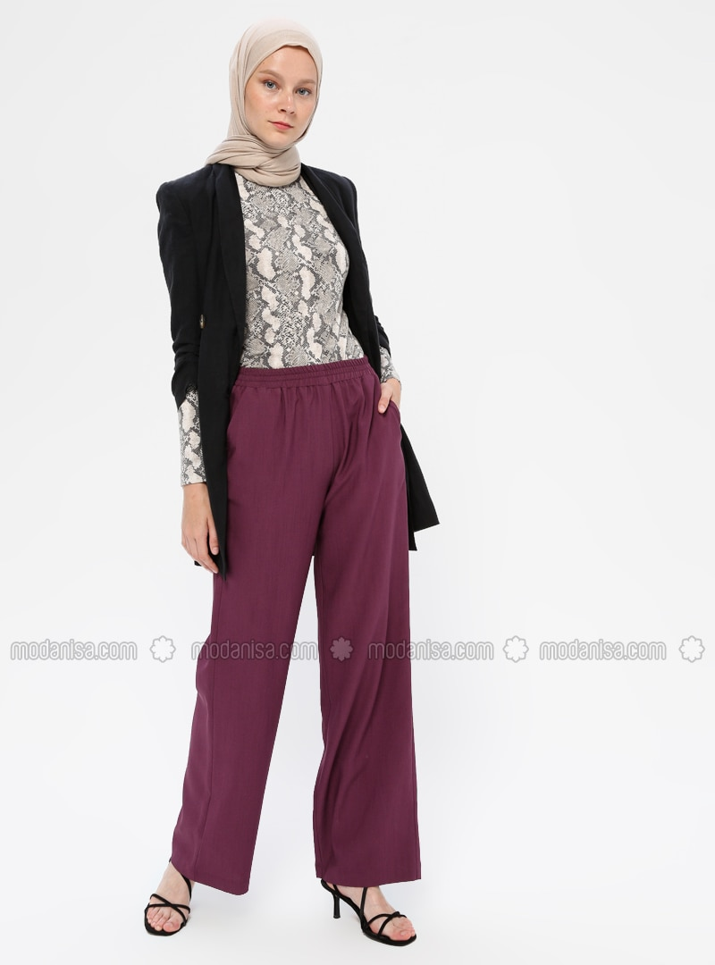 Plum - Viscose - Pants