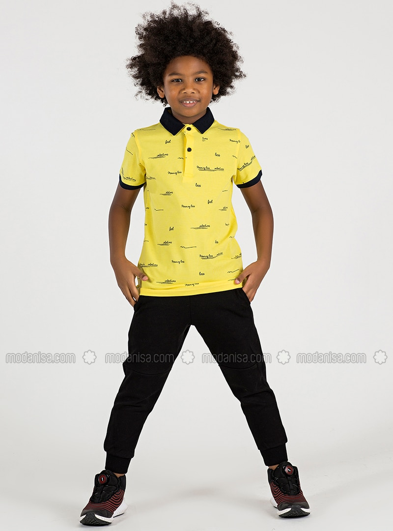 Polo - - Unlined - Yellow - Boys` T-Shirt