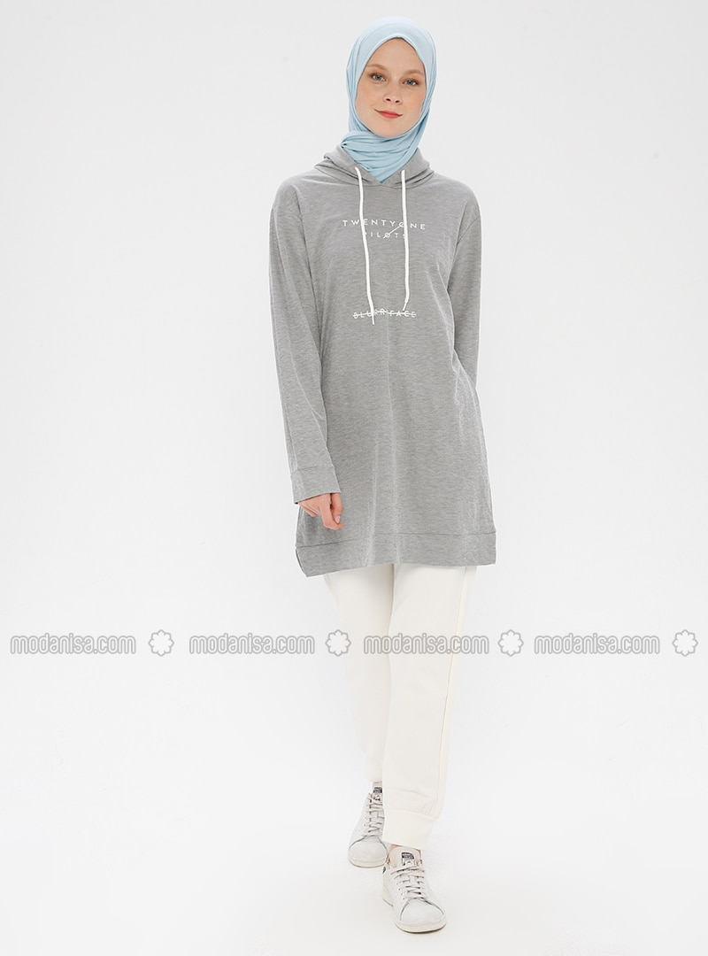 Gray -  - Crew neck - Tracksuit Set