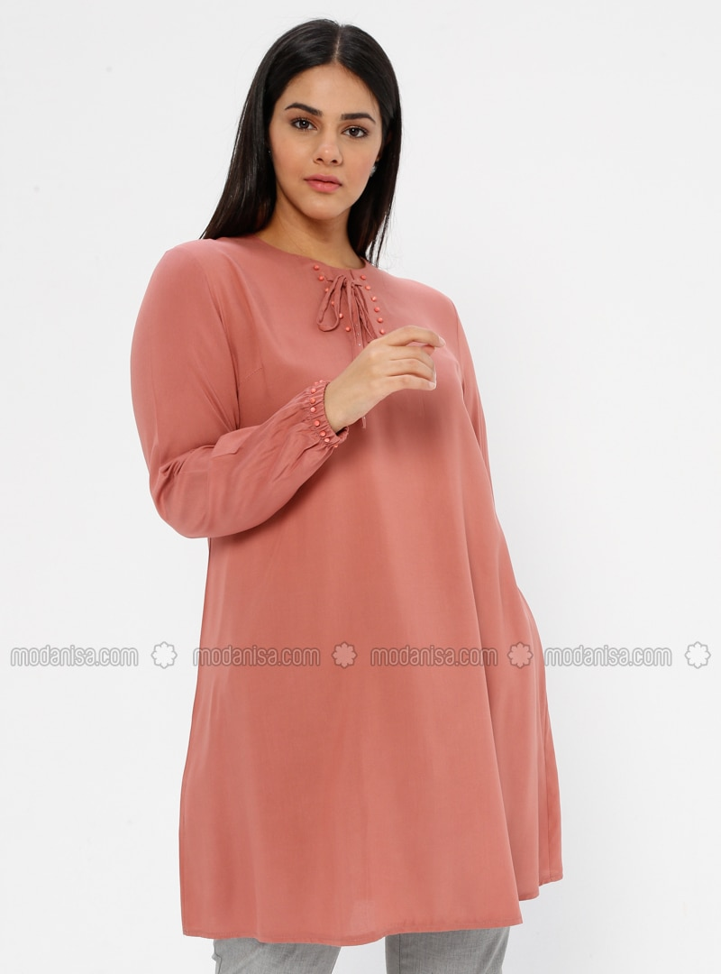 Powder - Crew neck - Viscose - Plus Size Tunic