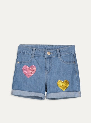 Indigo - Girls` Shorts - LC WAIKIKI