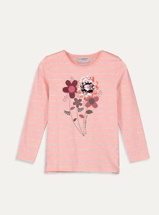 Crew neck - Pink - Girls` T-Shirt - LC WAIKIKI