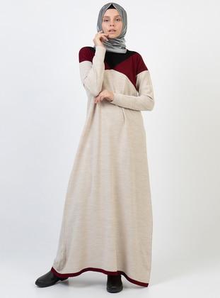 Mink - Unlined - Acrylic - Dress