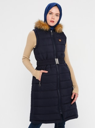 Navy Blue - Fully Lined - Vest