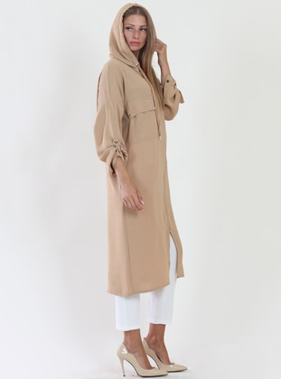 Beige - Fully Lined - Viscose - Topcoat
