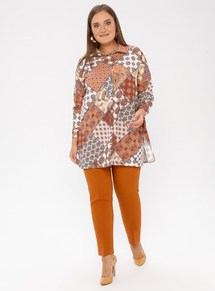 Terra Cotta - Nylon - Plus Size Pants