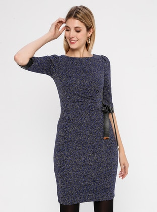 Saxe - Multi - Crew neck - Unlined - Dress