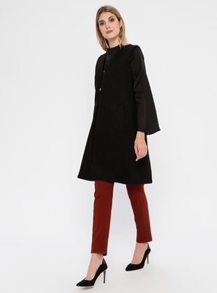 Black - Fully Lined - Shawl Collar - Vest