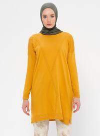 Mustard - Crew neck - Acrylic -  - Tunic