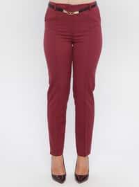 Plum - Nylon - Pants