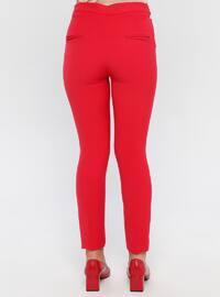 Red - Nylon -  - Pants