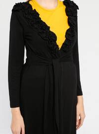 Black - Rayon - Cardigan