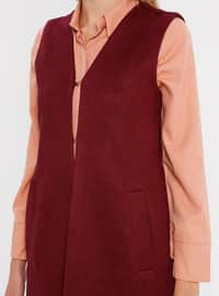 Maroon - Fully Lined - Shawl Collar - Vest