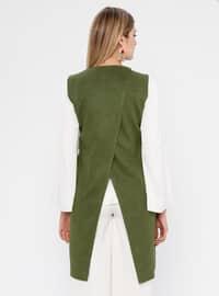 Khaki - Fully Lined - Shawl Collar - Vest