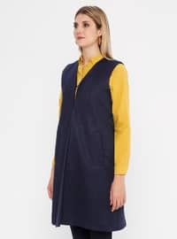 Navy Blue - Fully Lined - Shawl Collar - Vest
