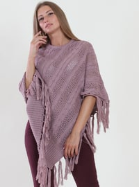 Dusty Rose - Unlined - Viscose - Poncho