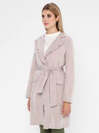Powder - Unlined - Shawl Collar - Trench Coat