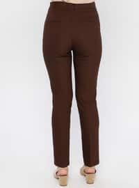 Brown - Nylon -  - Pants