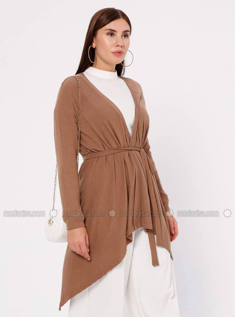 Camel - Rayon - Cardigan