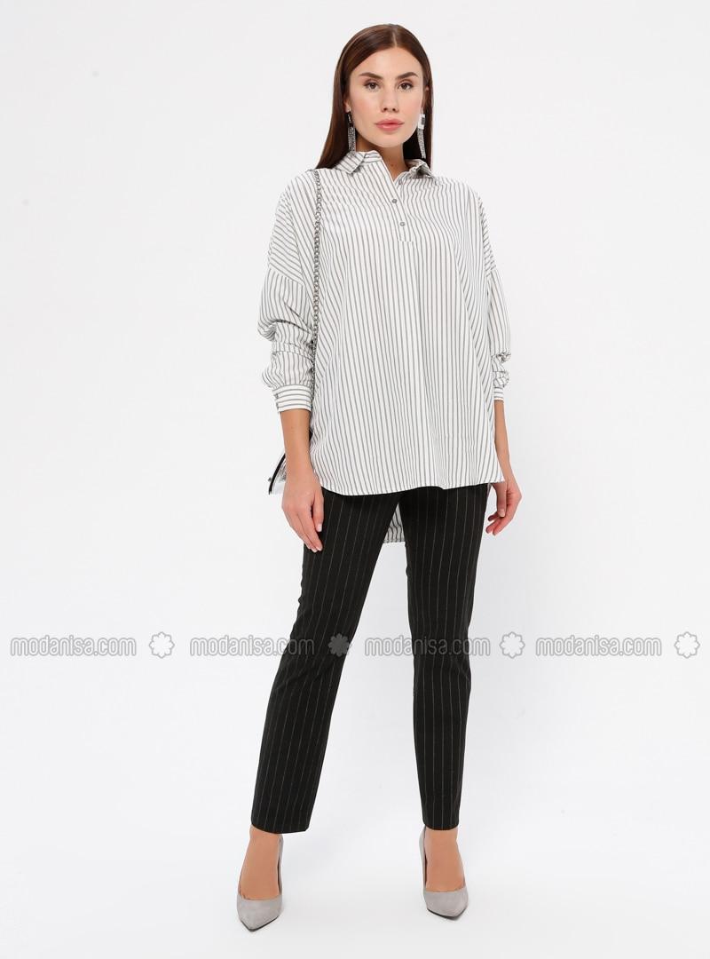Stripe - Viscose - Pants