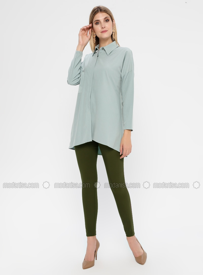 Khaki - Nylon - Pants