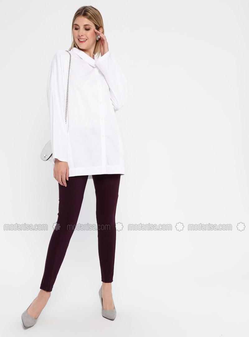 Purple - Nylon - Pants