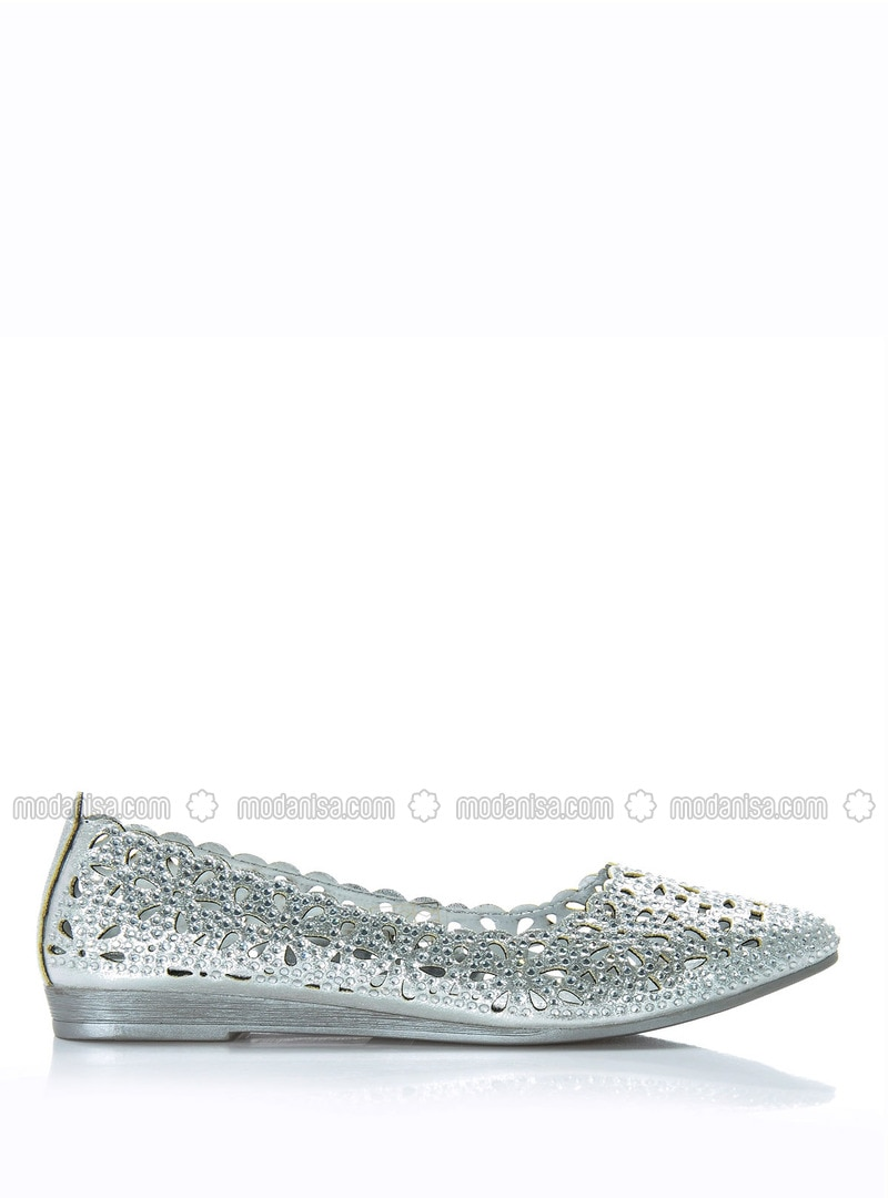 Silver tone - Flat Shoes
