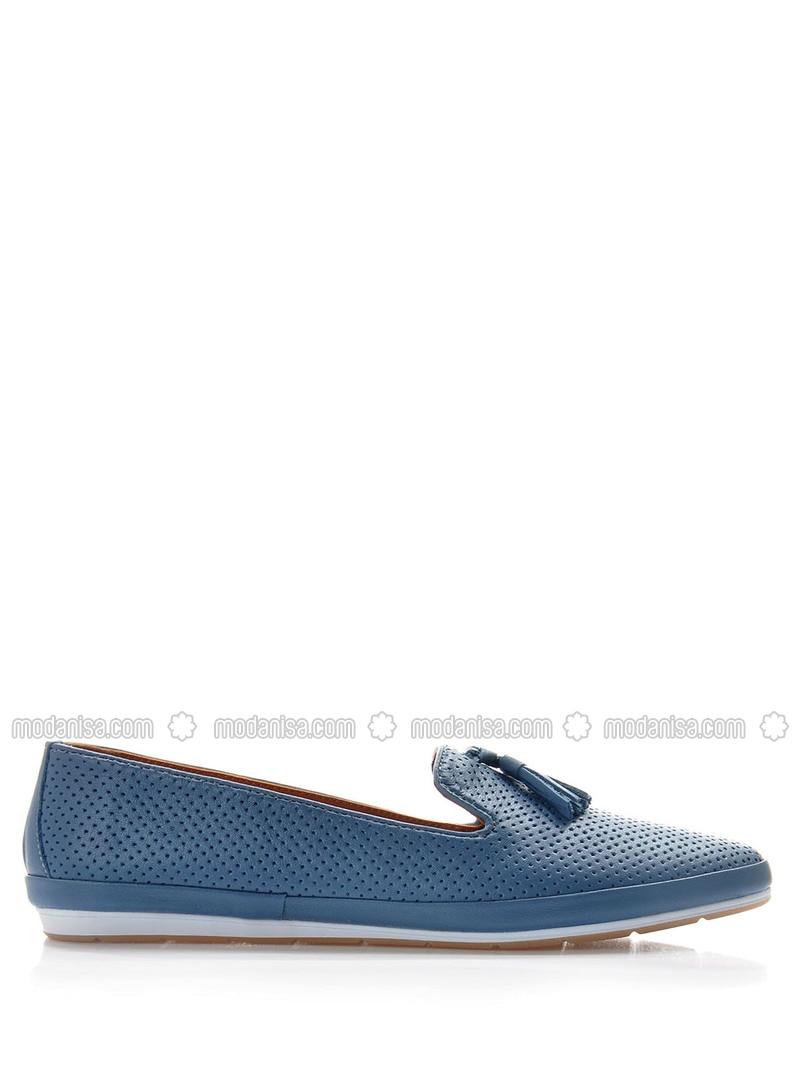 Blue - Flat Shoes