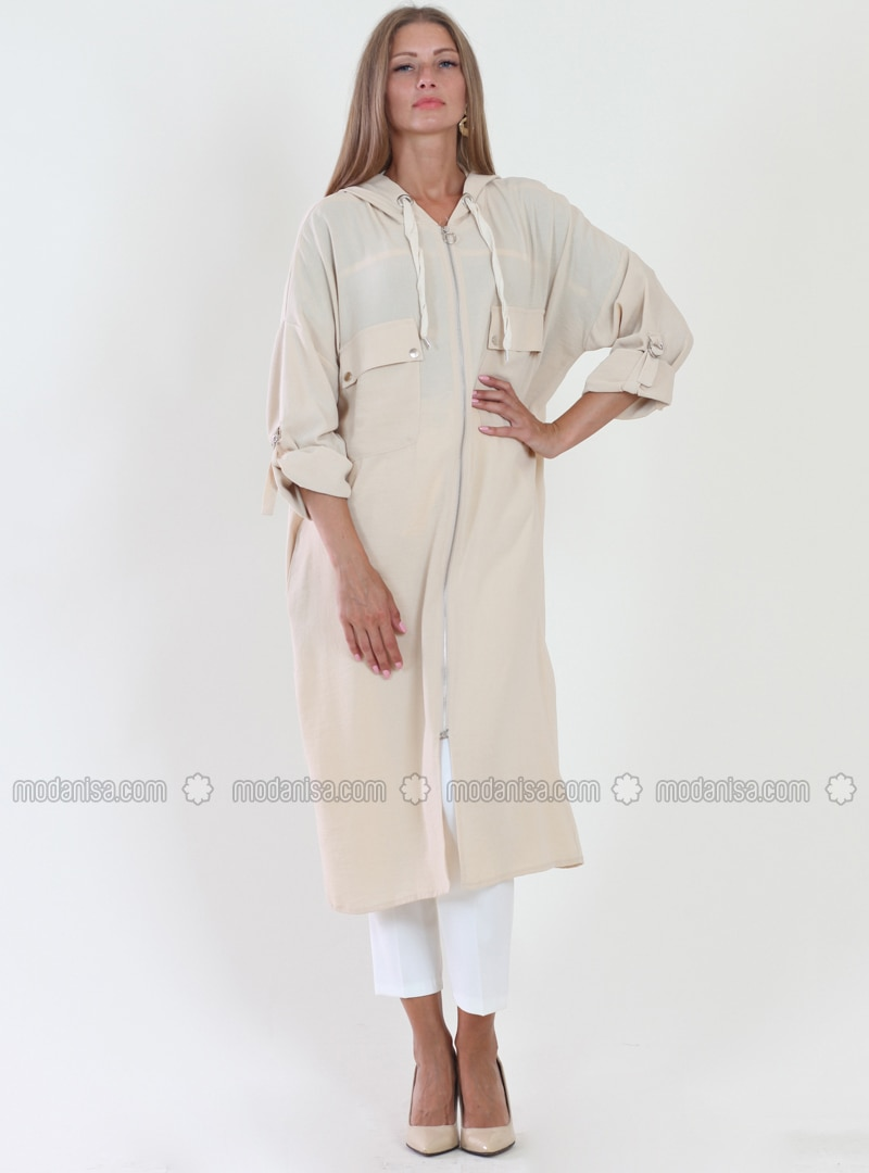 Ecru - Fully Lined - Viscose - Topcoat