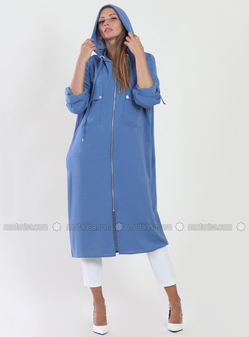 Blue - Fully Lined - Viscose - Topcoat