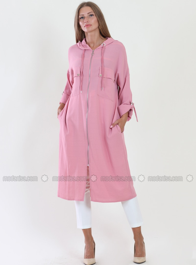 Pink - Fully Lined - Viscose - Topcoat