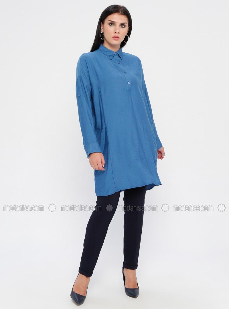 Navy Blue - Nylon - Pants