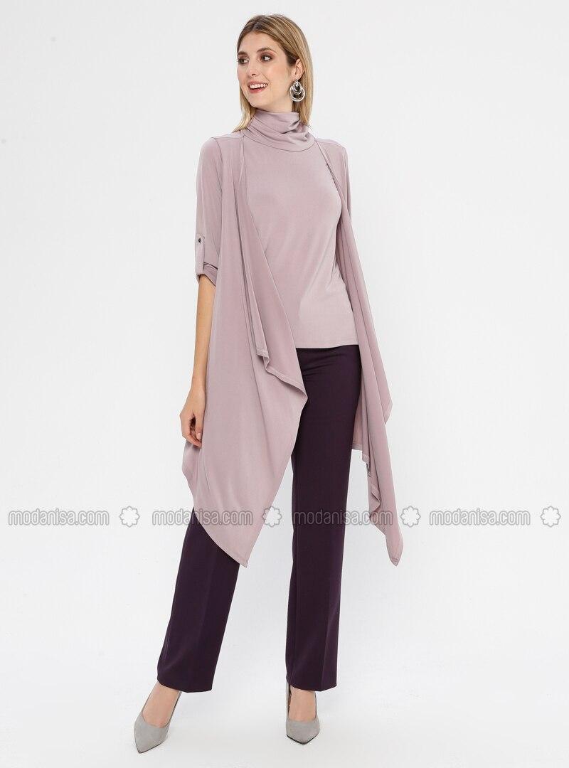 Purple - Viscose - Pants