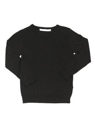 Crew neck - Black - Boys` Pullover