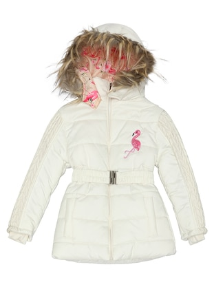 Polo neck -  - Ecru - Girls` Coat - Nanica Kids