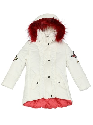 Polo neck -  - Ecru - Girls` Coat