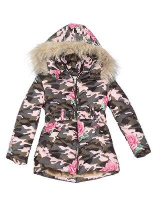 Multi - Polo neck -  - Fuchsia - Girls` Coat - Nanica Kids