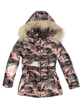 Multi - Polo neck -  - Pink - Girls` Coat