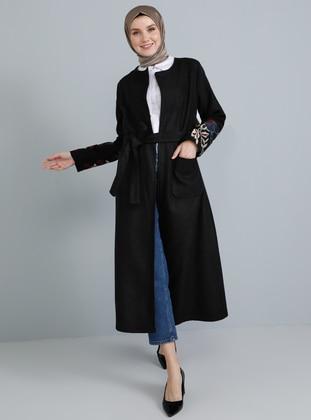 Black - Fully Lined - Acrylic -  - Coat