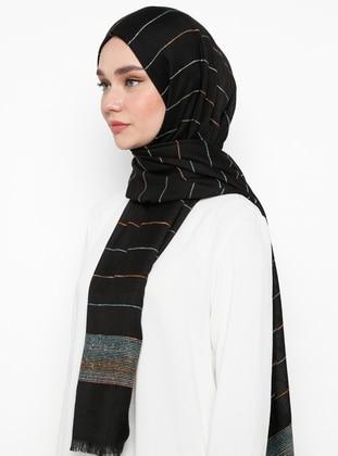 Black - Plain - - Shawl