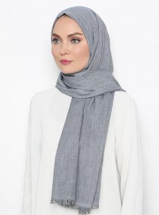Gray - Plain -  - Shawl
