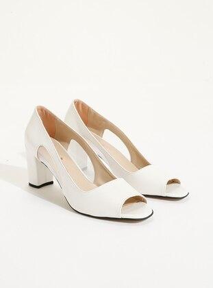 White - Sandal - High Heel - Heels