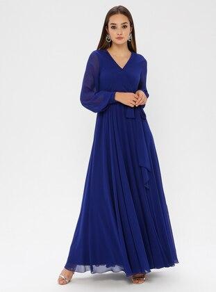 Saxe - V neck Collar - Fully Lined - Dress