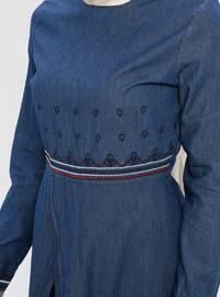 Blue - Unlined - Denim -  - Suit